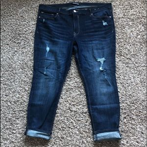 Express Distressed Mid Rise Ankle Skinny's Sz 18 S